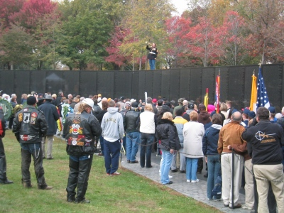 10 November 2007, The Vietnam War Memorial, 25th Anniversary, the reading of the names