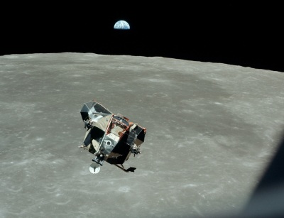 21 July 1969, Lunar Module Eagle as seen from Command Module Columbia