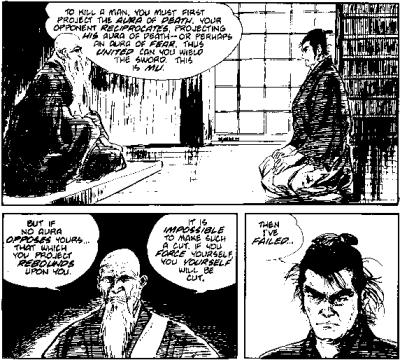 Koike, Kazuo and Goseki Kojima, Lone Wolf and Cub, issue 3, The Gateless Barrier, July 1987, p. 39