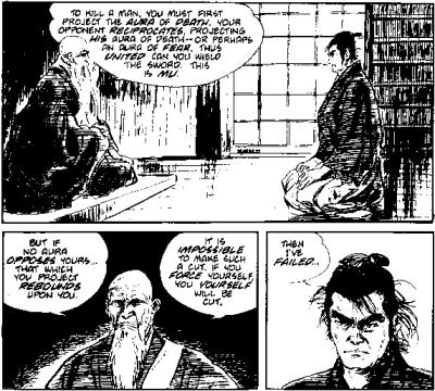 Koike, Kazuo and Goseki Kojima, Lone Wolf and Cub, issue 3, The Gateless Barrier, July 1987, p. 39