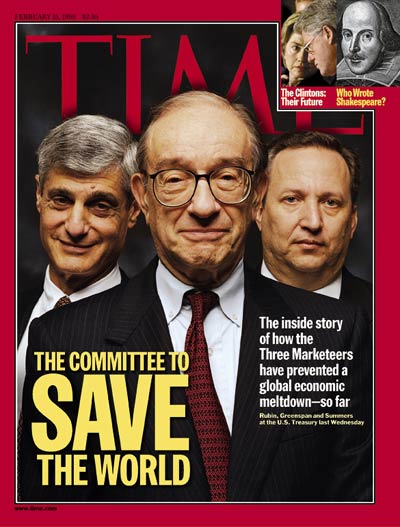 The Committee to Save the World, Time Magazine, 15 February 1999