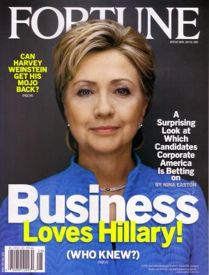 Business Loves Hillary Clinton, Fortune, 9 July 2007