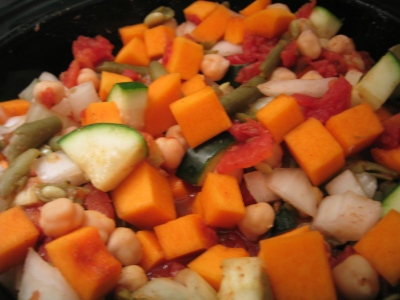 5 September 2007, crockpot Mediterranean stew with squash