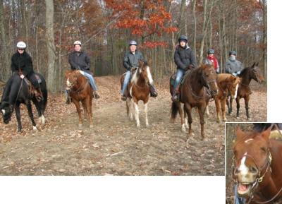 Thanksgiving weekend, 2007, Pleasant Valley Ranch, Pennsylvania, riding horses