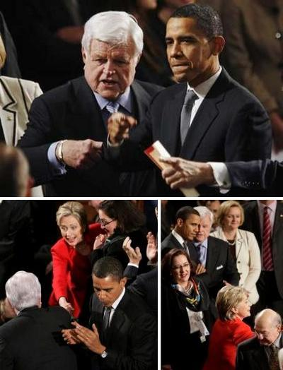 28 January 2008, Kennedy, Obama and Clinton at the State of the Union
