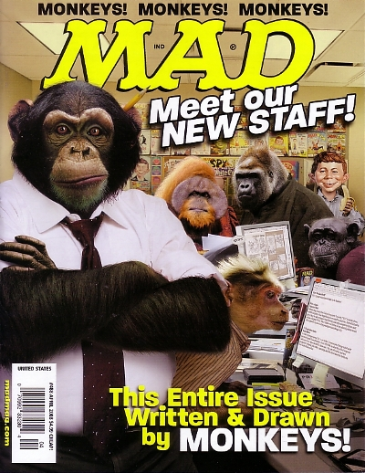 April 2008 Mad Magazine, monkey editorialship