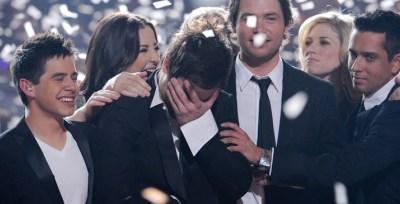 21 May 2008, David Cook wins American Idol