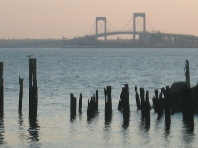 View of the Throgs Neck Bridge from City Island, New York, 28 November 2008