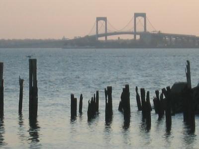 View of the Throgs Neck Bridge from City Island, New York, 28 November 2008