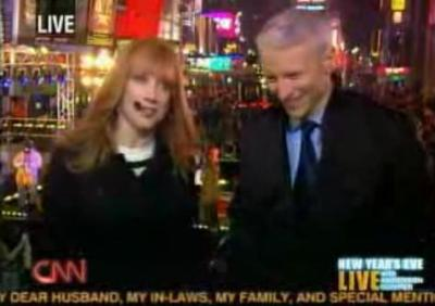 Anderson Cooper and Cathy Griffith's 2008-9 New Year's coverage on CNN
