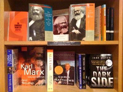 Marx display, Borders at 14th and H Streets, Washington, D.C., 19 May 2009