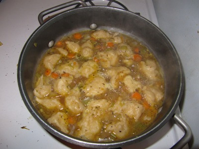 Boiling dumplings in soup, 28 July 2009
