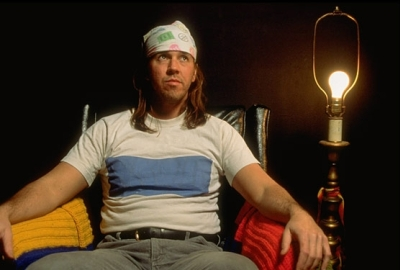 David Foster Wallace with bare lamp
