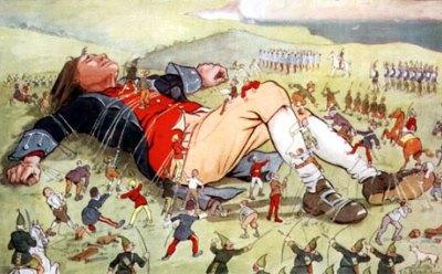 Gulliver and the Lilliputians