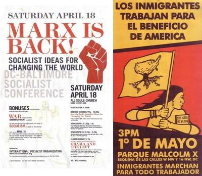 April-May 2009, Marx is Back! / 1 de Mayo immigrant's march posters