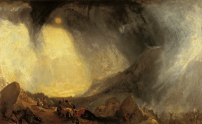 J. M. W. Turner, Snow Storm: Hannibal and his Army crossing the Alps, 1812, oil on canvas, Turner Bequest, Tate Britain, London