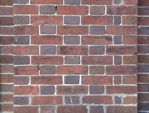 Bricks: pixilated clay, Mount Pleasant, Washington, D.C., 13 April 2012