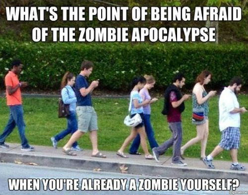 What's the Point of Being Afraid of the Zombie Apocalypse When You're Already a Zombie Yourself