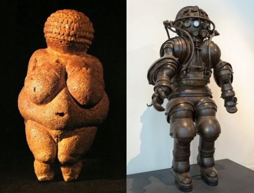 Venuses of Willendorf (30-27ky) and Marseilles (1882)